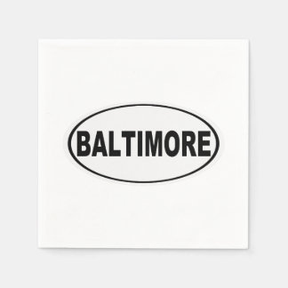 Baltimore Maryland Disposable Napkins