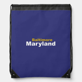 Baltimore, Maryland Drawstring Backpack