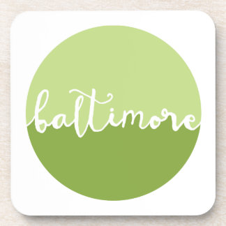 Baltimore, Maryland | Green Ombre Circle Coasters