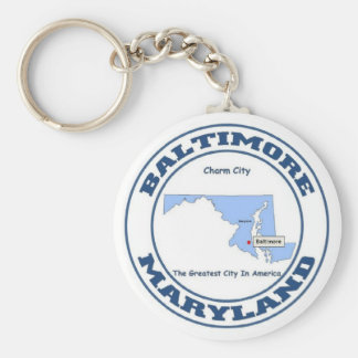 Baltimore, Maryland Keychain