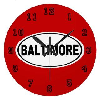 Baltimore Maryland Large Clock