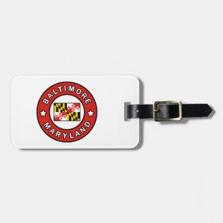 Baltimore Maryland Luggage Tag