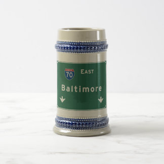 Baltimore Maryland md Interstate Highway Freeway : Beer Stein