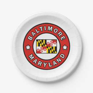 Baltimore Maryland Paper Plate