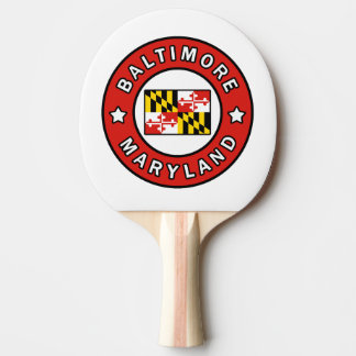 Baltimore Maryland Ping Pong Paddle
