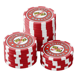 Baltimore Maryland Poker Chips