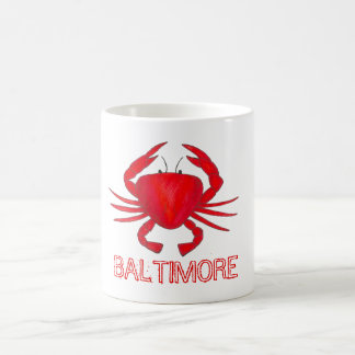 Baltimore Maryland Red Crab Crabs Beach Mug
