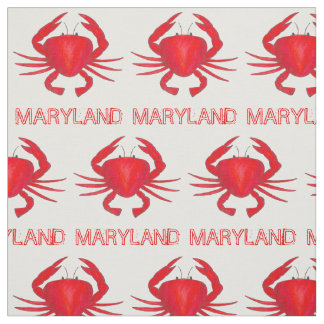 Baltimore Maryland Red Crab Crabs Seafood Fabric