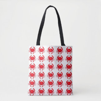 Baltimore Maryland Red Hard Shell Crab Crabs Tote