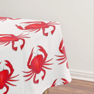 Baltimore Maryland Red Hard Shell Crab Seafood Tablecloth