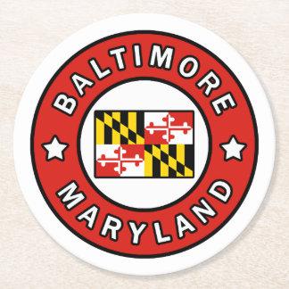 Baltimore Maryland Round Paper Coaster