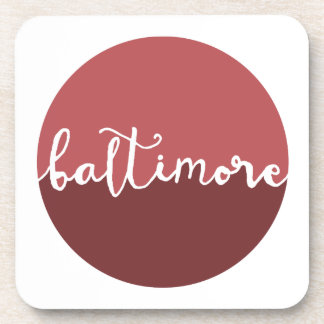 Baltimore, Maryland | Rust Ombre Circle Drink Coaster