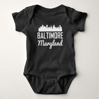 Baltimore Maryland Skyline Baby Bodysuit
