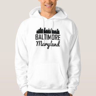Baltimore Maryland Skyline Hoodie