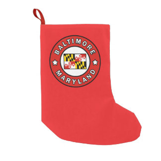 Baltimore Maryland Small Christmas Stocking