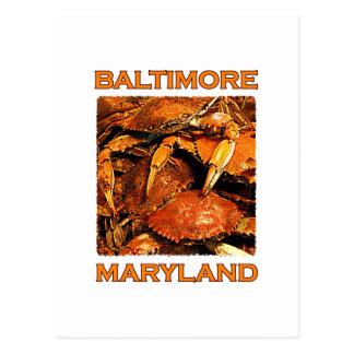 Baltimore Maryland Steamed Crabs Logo Postcard