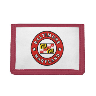 Baltimore Maryland Trifold Wallet