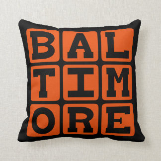 Baltimore, Maryland United States Throw Pillow