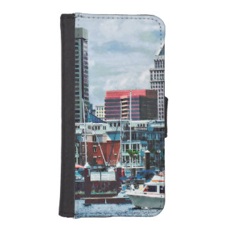 Baltimore MD - Baltimore Skyline at Charles River iPhone SE/5/5s Wallet Case
