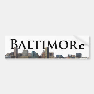 Baltimore MD Skyline with Baltimore in the Sky Bumper Sticker