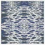 'Baltimore' Navy & White Nautical Waves Fabric