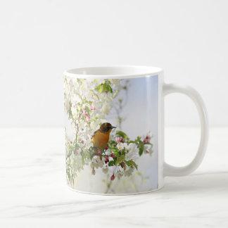 Baltimore Oriole and spring blossoms Coffee Mug