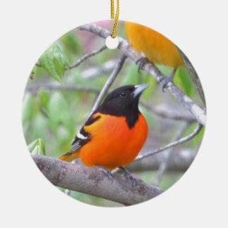 Baltimore Oriole Ceramic Ornament