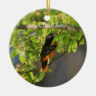 Baltimore Oriole in the Spring Ceramic Ornament