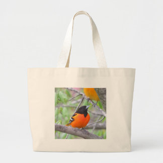 Baltimore Oriole Large Tote Bag