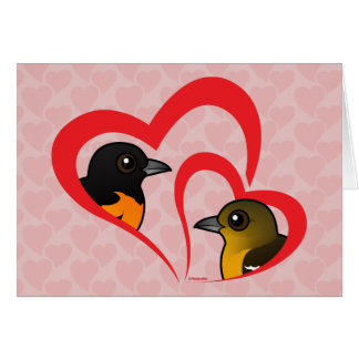 Baltimore Oriole Love Greeting Card