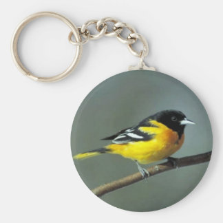 Baltimore Oriole on a branch Keychain