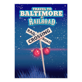 Baltimore Railroad crossing travel poster. Photo Print