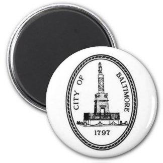 Baltimore Seal 2 Inch Round Magnet