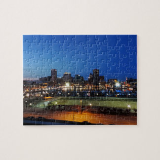 Baltimore Skyline at Dusk Puzzle
