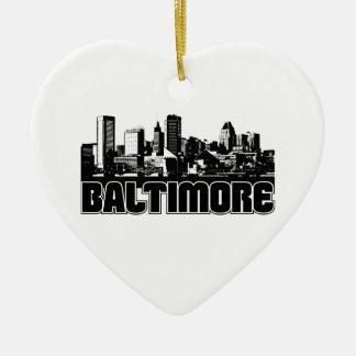 Baltimore Skyline Ceramic Ornament