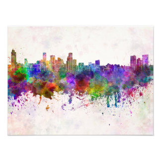 Baltimore skyline in watercolor background fotos