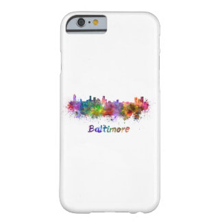 Baltimore skyline in watercolor barely there iPhone 6 case