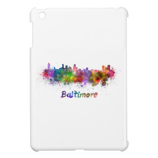 Baltimore skyline in watercolor iPad mini cover