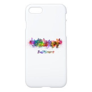 Baltimore skyline in watercolor iPhone 8/7 case