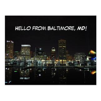 Baltimore Skyline Postcard