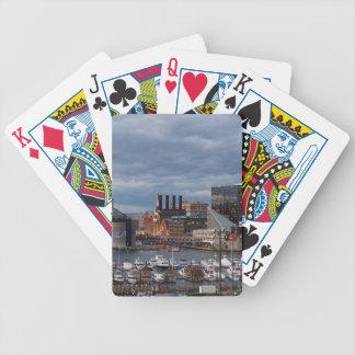 Baltimore Sundown Skyline Bicycle Playing Cards