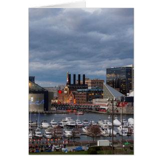 Baltimore Sundown Skyline Card