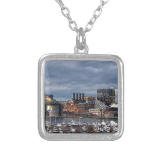 Baltimore Sundown Skyline Silver Plated Necklace