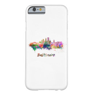 Baltimore V2 skyline in watercolor Barely There iPhone 6 Case