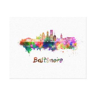 Baltimore V2 skyline in watercolor Canvas Print