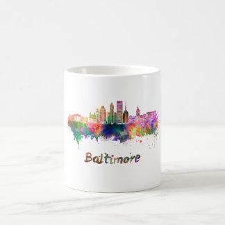 Baltimore V2 skyline in watercolor Coffee Mug