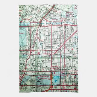 BALTIMORE Vintage Map Kitchen Towel