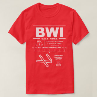 Baltimore/Washington Int'l Airport BWI Tee Shirt: