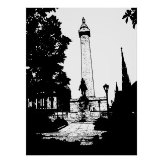 Baltimore Washington Monument Poster