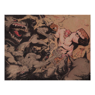 Balto attacked by werewolves poster